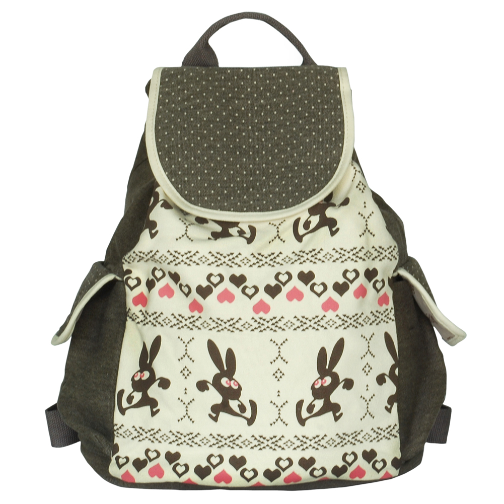 Blancho Bedding [Happy Trip] Fabric Art School Backpack Outdoor Daypack at Sears.com