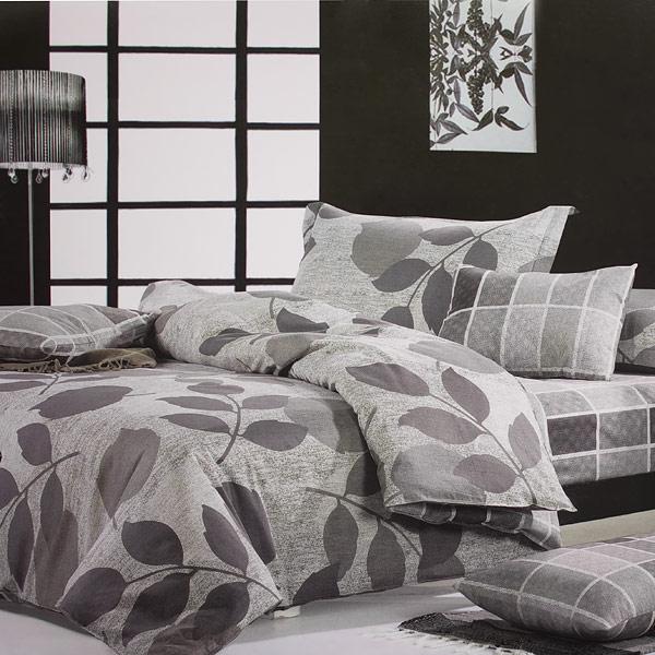 Blancho Bedding [Elm Leaf] Luxury 5PC Comforter Set Combo 300GSM (King Size)