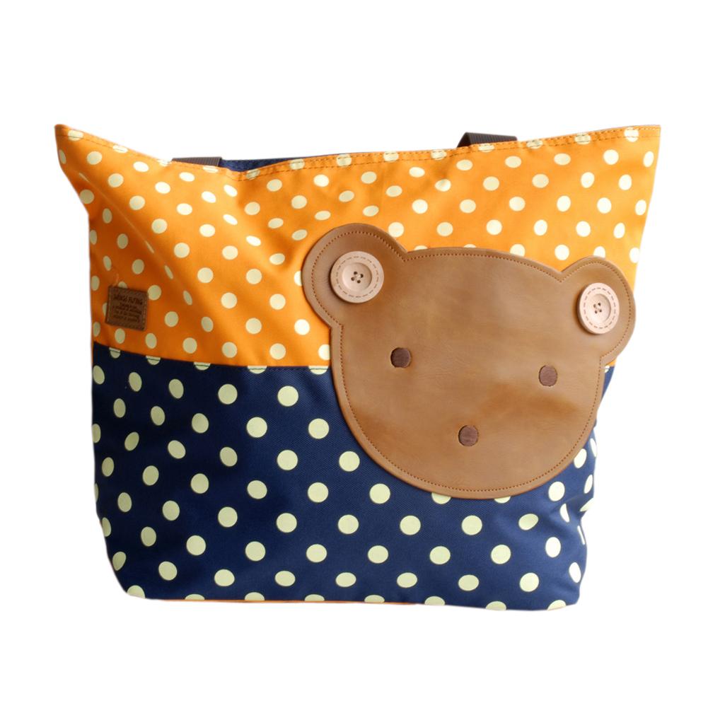 Blancho Bedding [Bear-Orange] Blancho Applique Kids Fabric Art Tote Bag/Shopper Bag-Big Size (16.5*5.5*12.6) at Sears.com