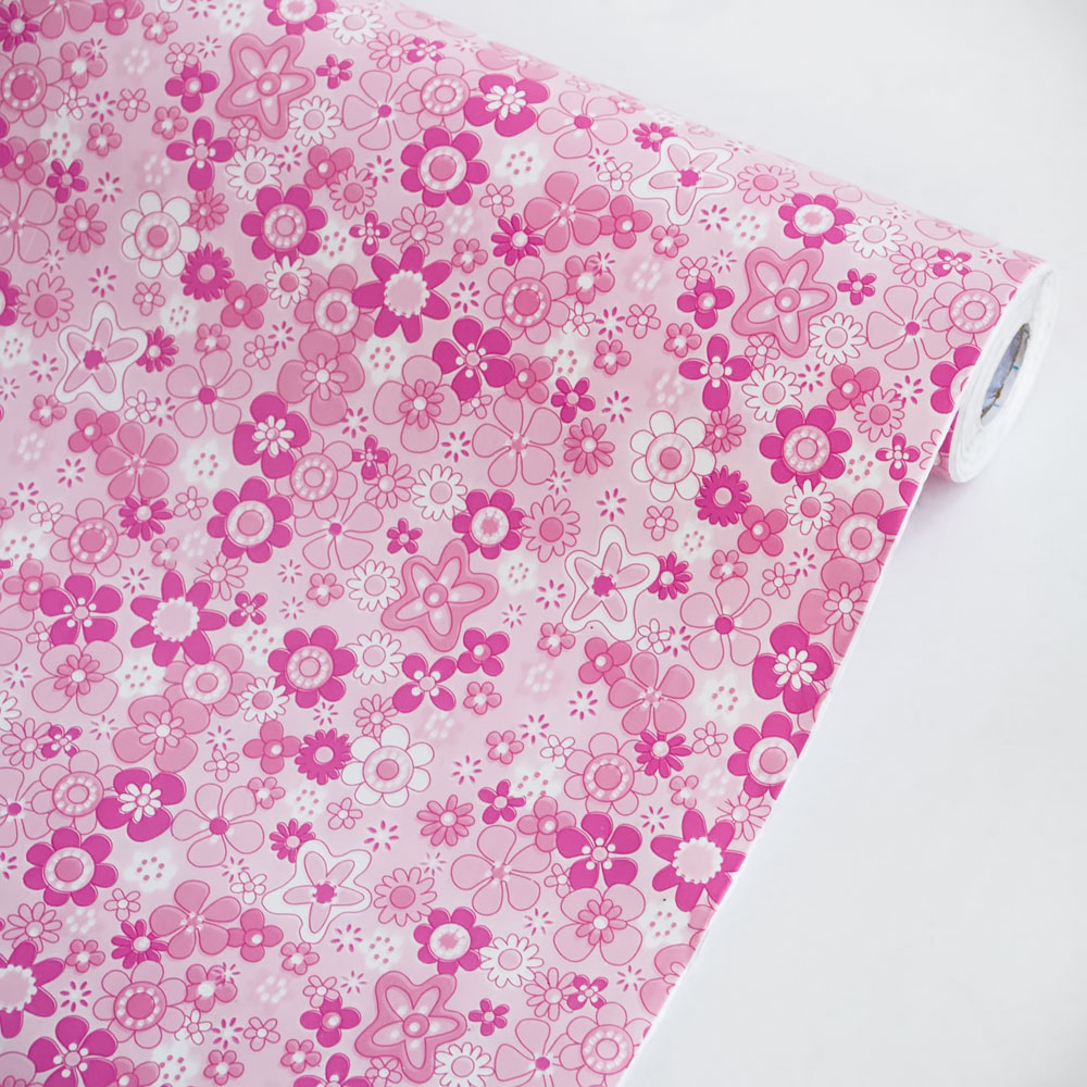 Pink Flowering Shrubs - Self-Adhesive Wallpaper Home Decor(Roll)