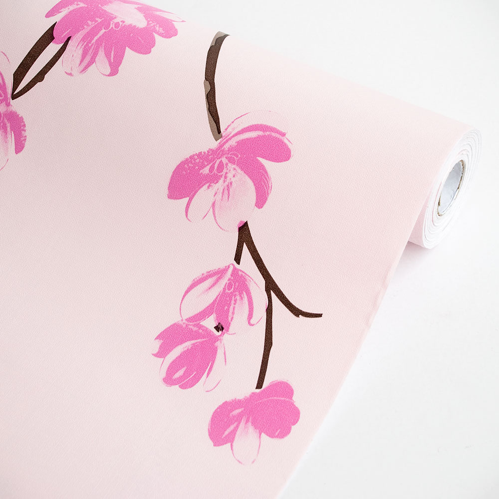 Pink Magnolia - Self-Adhesive Wallpaper Home Decor(Roll)