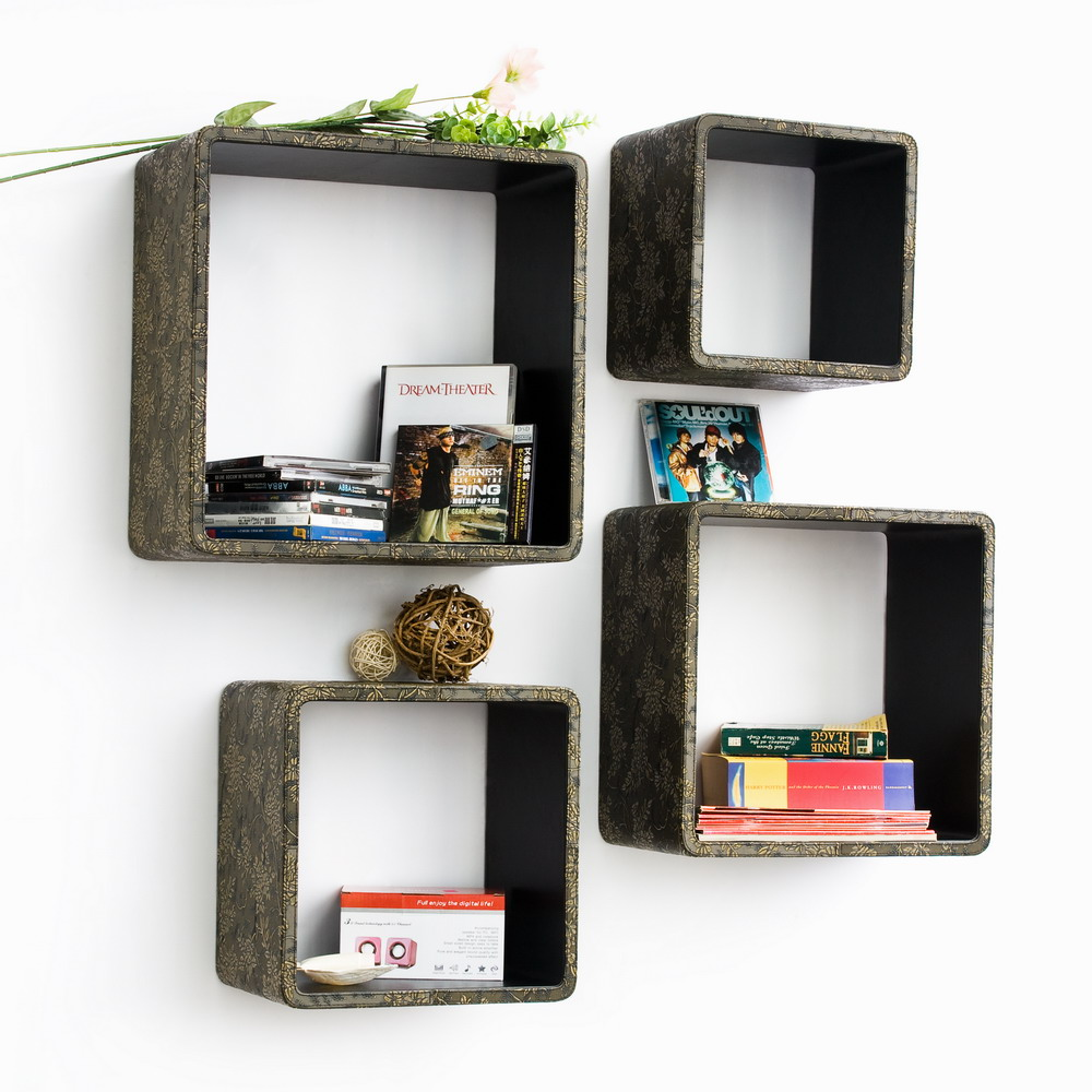 Floating Corner Shelves Wall