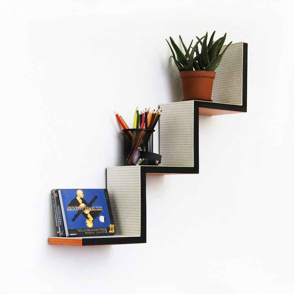 Decorative Wall Ladder Shelf
